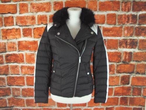 Fur Bcbg Down heather Nwt Sz Faux Collar Feather Coat Maxazria Xs Puffer qvFr7np5q