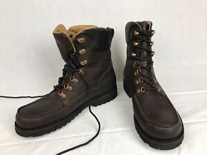 ae45cd46865 Details about Rocky Men's RKS0265 Great Falls Moc Toe Insulated WP Leather  Lace Boots 10M