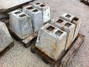 Granitsockelstein-Granitfuss-Sockelstein-Natursteinpflaster-Steinfuss-gebraucht