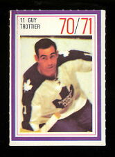 1970-71 ESSO POWER PLAYERS NHL #11 GUY TROTIER EX+ MAPLE LEAFS UNUSED STAMP