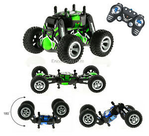 Flip-Car-1-6-Scale-RC-Double-Sided-Transforming-Stunt-Racer-Rock-Crawler-Truck