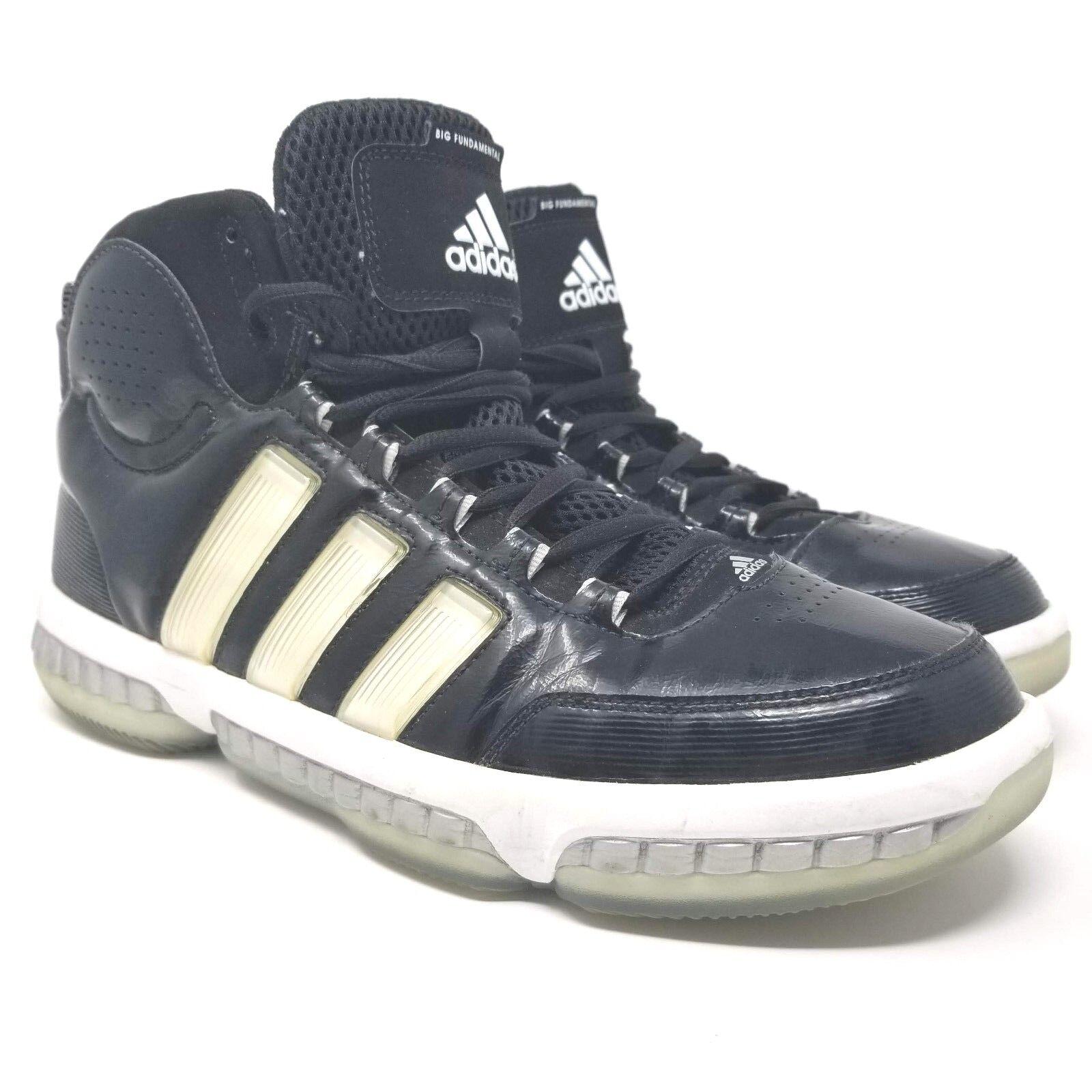 Adidas Big Fundamental Tim Duncan G24826 Size 11.5 Black Basketball Sneakers