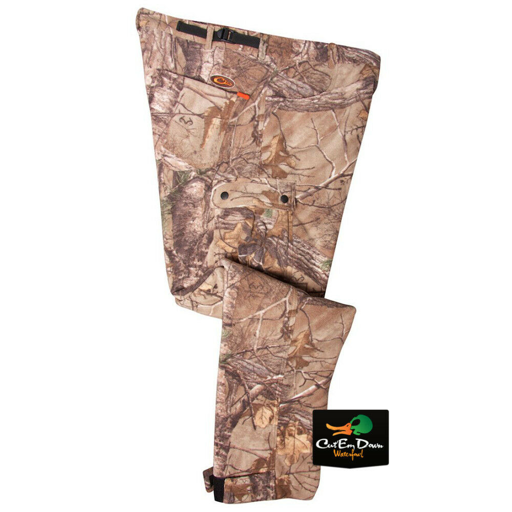 DRAKE WATERFOWL NON-TYPICAL SILENCER WINDPROOF FLEECE PANTS XTRA CAMO 2XL