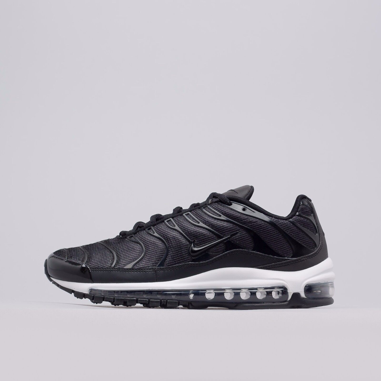 "Nike Air Max Plus 97 ""Tune Up""  Black white AH8144-001 Mens Sizes"