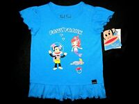 Paul Frank 24m & 2t Toddler Little Girl Short Sleeve Turquoise Heather Tunic Top