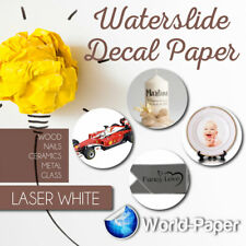 Laser Waterslide White Decal Paper 20 Sheet 85 X 11