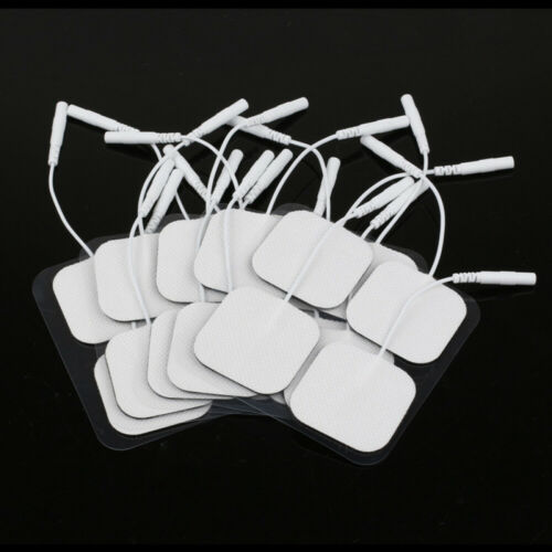 20x TENS Elektroden Pads selbstklebend für TENS EMS Reizstrom Gerät 4x4cm 2mm