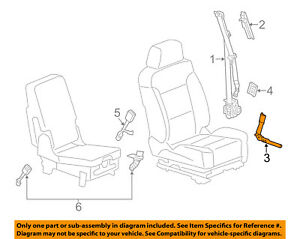 Cadillac GM OEM 10-16 SRX Front Seat Belt-Buckle Tensioner Left 19299532