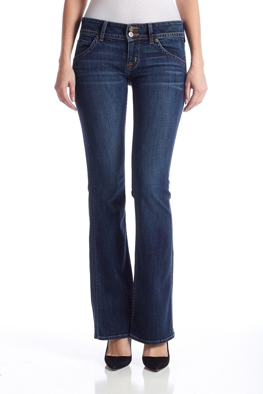 Hudson Women's Size 26 Eva Signature Bootcut bluee Jeans Cotton Blend Pants HF21