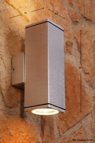 Muro in alluminio Lampada Lampada Muro Lampada Esterno Vetro Lampada esterno Design Lampada Luci Nuovo