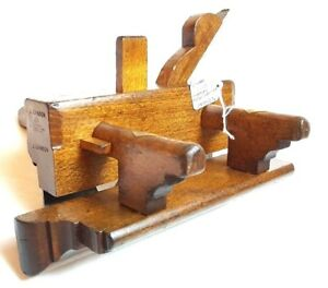 Early-Plough-Plane-Marples-Hibernia-C-1875-Plow-Groove-Vintage-Woodworking-Tools