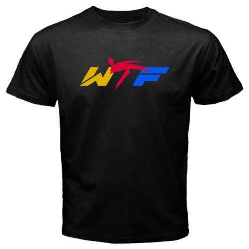 New WTF World Taekwondo Federation Logo Men/'s Black T-Shirt Size S to 3XL
