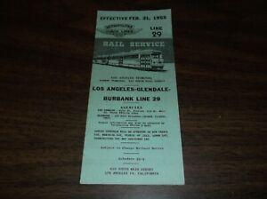 FEBRUARY-1955-METROPOLITAN-COACH-LINES-LOS-ANGELES-LINE-29-PUBLIC-TIMETABLE