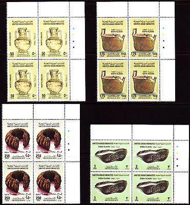 Verantwortlich Uae 1996 ** Mi.499/502 Bl/4 Archäologie Archaeological Finds Hell In Farbe Briefmarken Asien