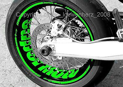 Gedisciplineerd Aufkleber Felgenaufkleber Supermoto Kawasaki Klx 250 650 Kx 400 450 Kxf Klr