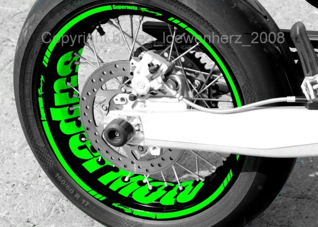 Sticker Wheel Rim Stickers Supermoto Kawasaki KX 400 450 Kxf KLR KLX 125 250