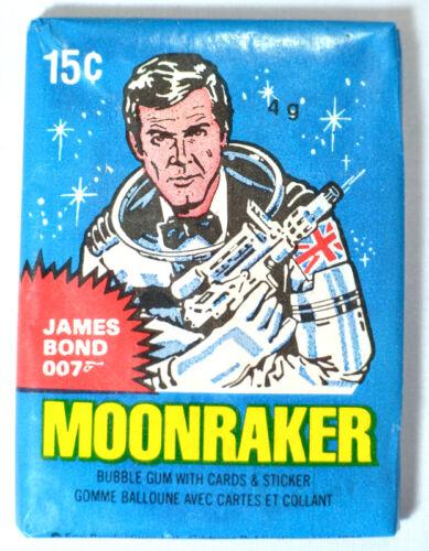 1979 Topps JAMES BOND MOONRAKER Sealed//Unopened Wax Pack