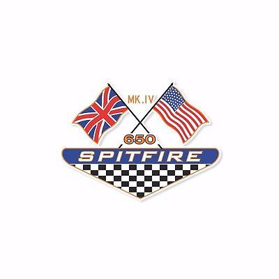 VINTAGE BSA SPITFIRE MK IV MOTORCYCLE BANNER