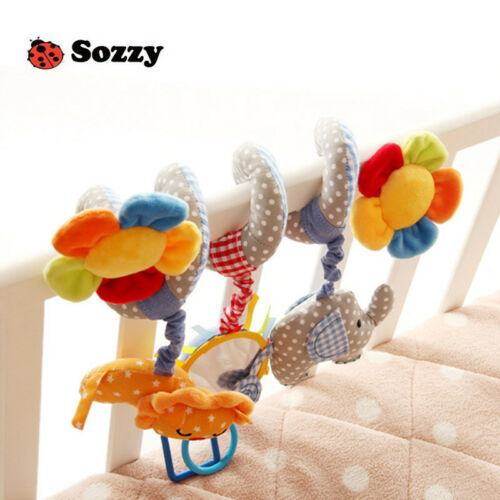 Baby Crib Cot Pram Hanging Rattles Spiral Stroller Bed Seat Pushchair Toy Bell