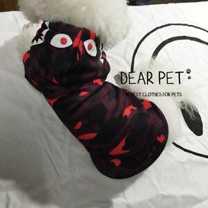 92675ee4 Details about Fashion Bape Shark Camo Pet Cat Dog Clothes Coat Warm Puppy  Sweatershirt Hoodie