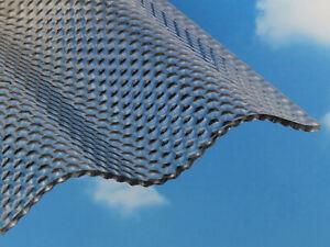 Details Zu 2735 Qm Acryl Lichtplatten Wellplatten 3mm Wabenstruktur Graphit