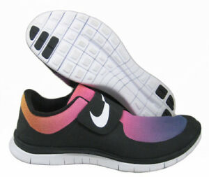 0fdce510a4ee NIKE FREE SOCFLY SD BLACK WHITE PINK FLASH YELLOW SZ 15 724766-005 ...