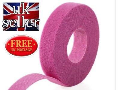 Gancho y bucle Velcro ® Marca Uno Envoltura ® Back 2 Back Flejado 1cm Negro X 5 metros