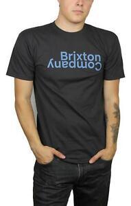Brixton-Mens-Revert-II-Standard-S-S-T-Shirt-Washed-Black-M-New