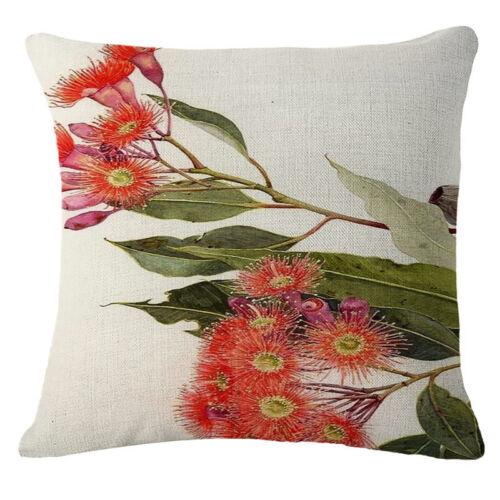 Fruits fleurs lin coton fashion Throw Pillow Case Cushion Cover Home Decor
