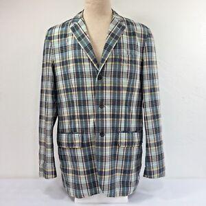fde75254a1a5 POLO Ralph Lauren Mens Plaid Blazer Sport Coat Madras Cotton Size ...