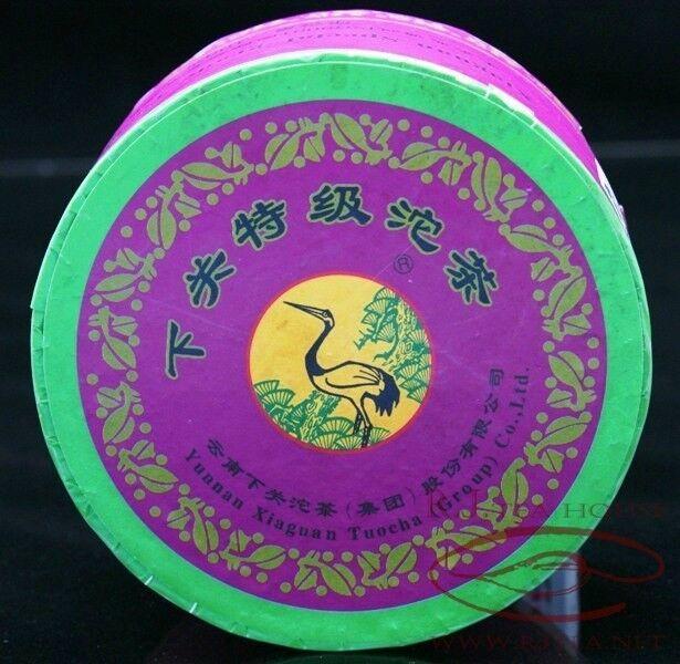 *Pu-erh Tea* Yunnan Xiaguan 2007 Special Grade Tuo Cha Raw Tea-100g Purple