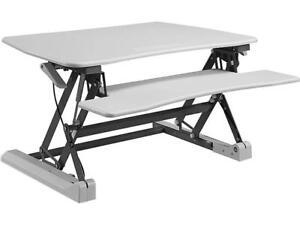 Image Is Loading Lorell LLR99554 V2 Adjustable Desk Riser White