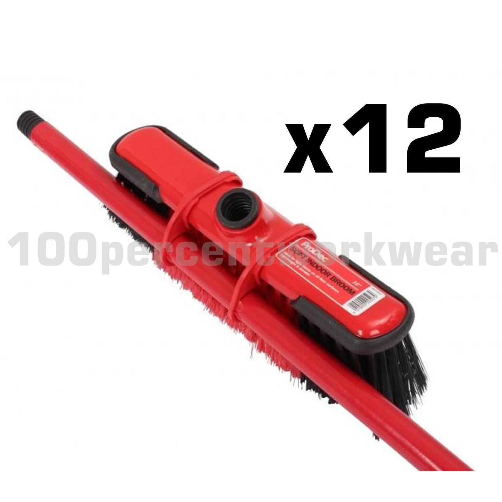12 x Prodec 10  a setole morbide spazzare scopa spazzola completa Indoor pulizia del pavimento