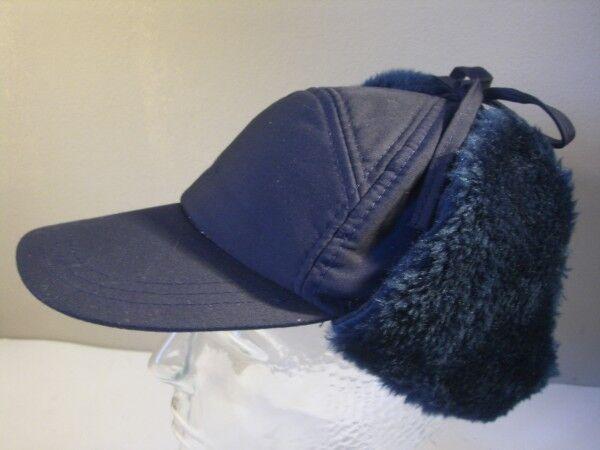 Cap Trapper Pilot Cossack Big Big Big 55 blueeeeeee with Ears fur Original Vintage cea