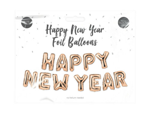 Happy New Year 2021 Foil Balloons Banner Self inflating New Year Party No Helium