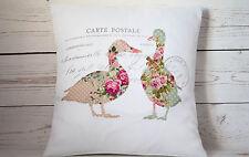 "Oche Floreale - 16"" Copricuscino Francese Shabby Chic Vintage-UK Fatto a mano"
