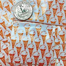 3 Mil 2020 2 X 2 Mini Zip Lock Design Bags 100 Pieces Ice Cream On White