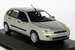 Minichamps-1-43-Scale-Ford-Focus-Mk1-5dr-2002-Silver-Diecast-model-Car