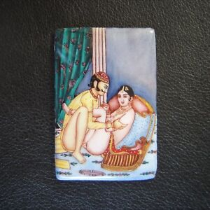 Antique-Erotic-Harem-Enamel-Kama-Sutra-Mughal-Indo-Persian