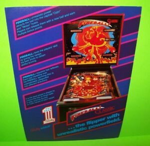 Fireball-Classic-Pinball-FLYER-Bally-Wulff-Original-German-NOS-Game-Fantasy-Art