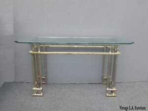 Vintage-Mid-Century-Contemporary-Chrome-Console-Table-the-Style-of-Guy-Lefevre