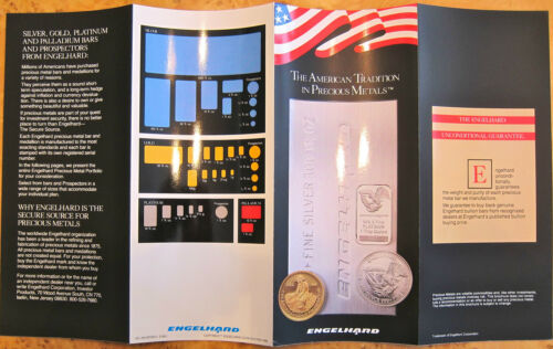 NEW IN  ENGELHARD BROCHURE-GOLD-SILVER-PLATINUM-PALLADIUM-BARS-COINS