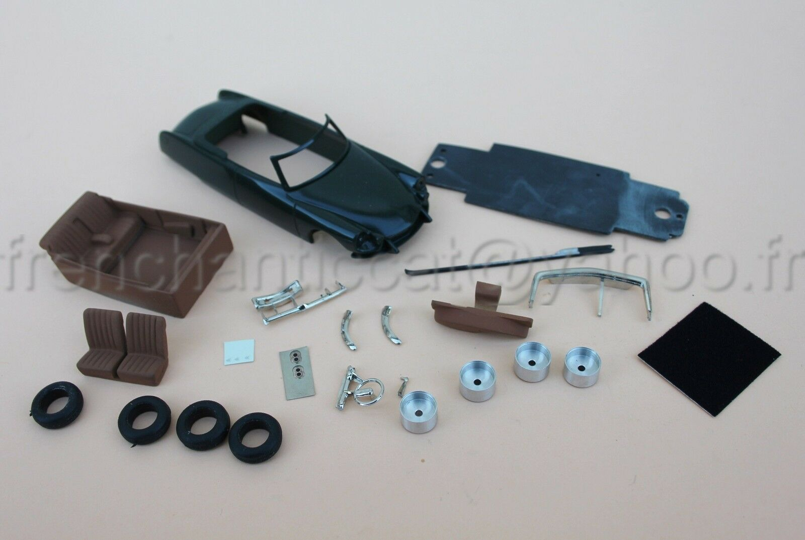IN Rare voiture Citroën DS chapron Palm Beach 1 43 Heco miniatures resine verte