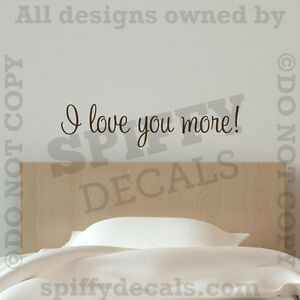 More Bedroom Romantic Quote Vinyl Wall Art Decal Decor Sticker EBay