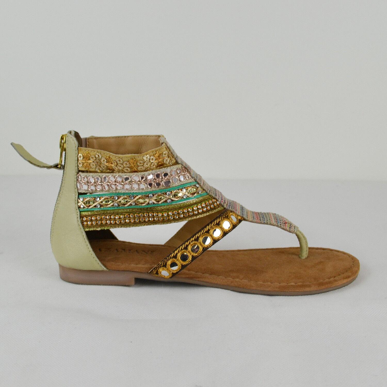 Lazamani señora verano sandalia sandalia verano 33657 en verde nuevo fbb30d