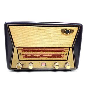 Needs-Repair-VTG-Tube-Radio-Grundig-Majestic-Great-Britain-Bakelite-Magic-Eye