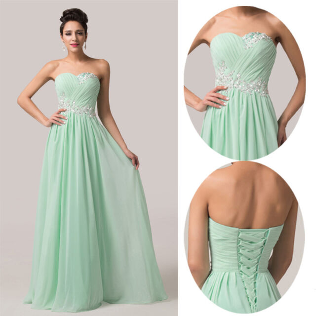 2015 CHEAP SWEET~Applique Bridesmaid Formal Ball Gown Evening Prom Party Dresses