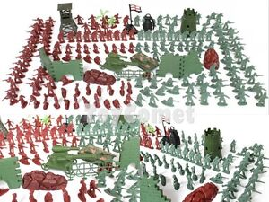 240-pcs-Military-Playset-Plastic-Toy-Soldiers-Army-Men-4cm-Figures-amp-Accessories