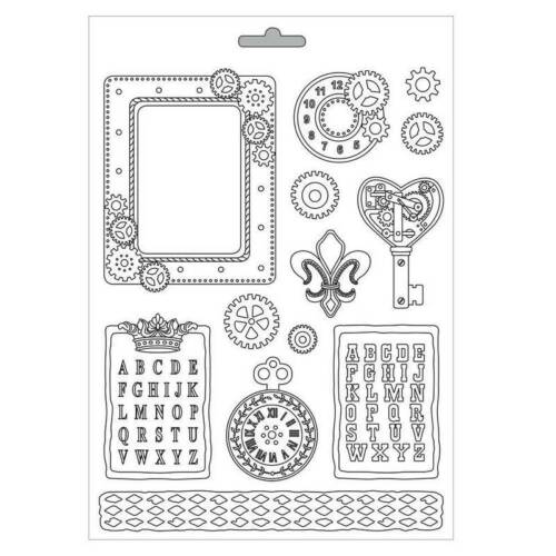 Steampunk Gear K3PTA439 Nuevo Stamperia Soft Maxi MOLDE//Molde A4 21cm X 29.7cm