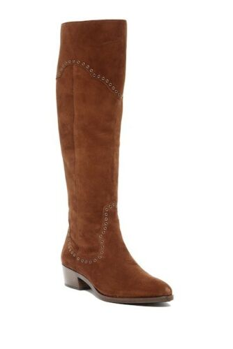 Boots over Women's maat knie Wood Frye 478 de 9 Suede Nib Ray Grommet Agx8wHIIq
